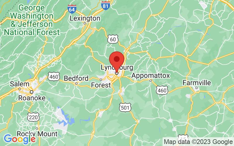 Map of Lynchburg, VA US