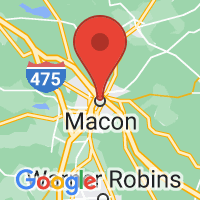Map of Macon, GA
