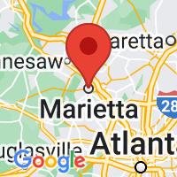 Map of Marietta GA US