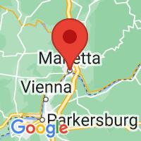 Map of Marietta, OH US