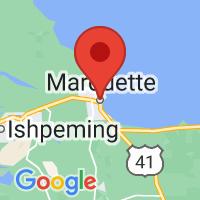 Map of Marquette, MI