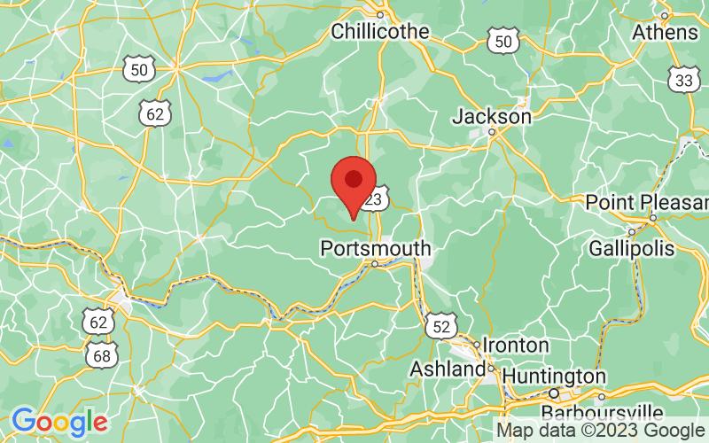 Map of Mc Dermott, OH US