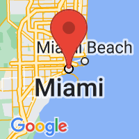 Map of Miami, FL US