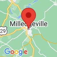 Map of Milledgeville GA US
