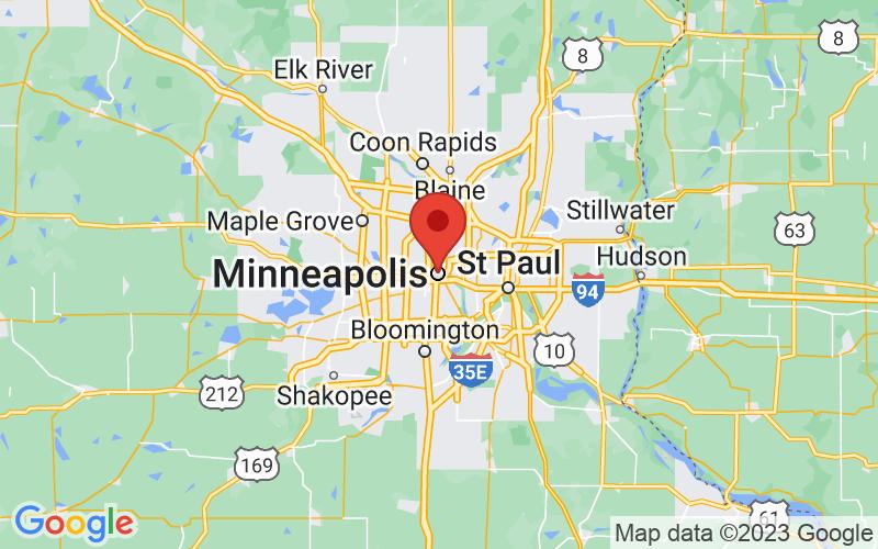 Map of Minneapolis, MN US