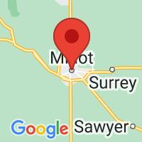 Map of Minot, ND