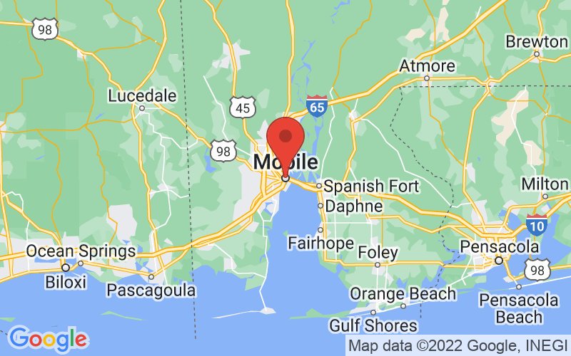 Map of Mobile, AL US