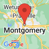 Map of Montgomery, AL
