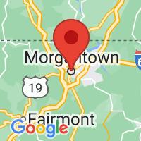 Map of Morgantown, WV