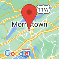 Map of Morristown, TN