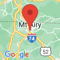 Map of Mount Airy NC US