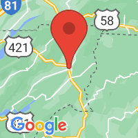 Map of Mountain City, TN