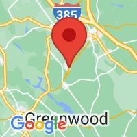 Map of Mountville, SC