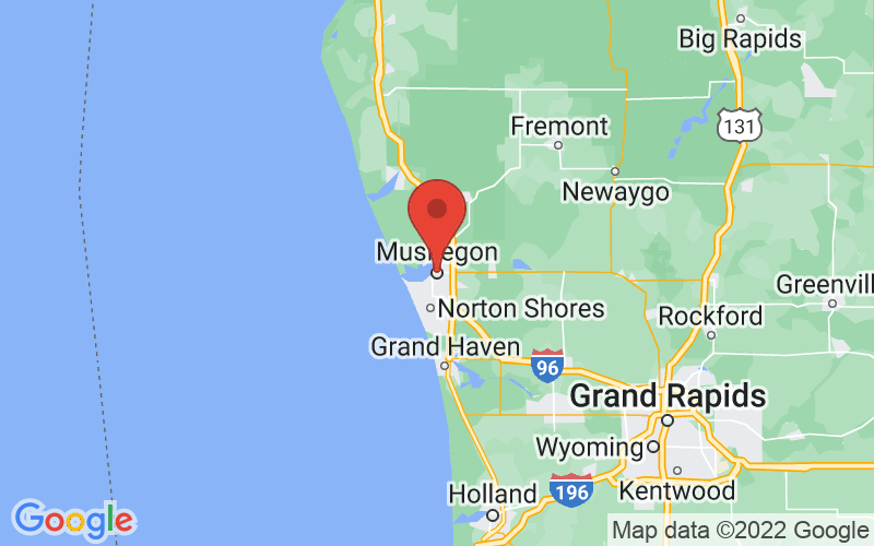 Map of Muskegon, MI US