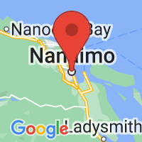 Map of Nanaimo, BC CA