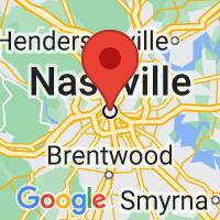 Map of Nashville, TN