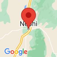 Map of Nephi, UT