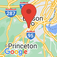 Map of New Brunswick, NJ US