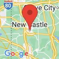 Map of New Castle, PA