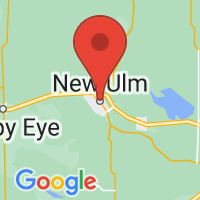 Map of New Ulm MN US