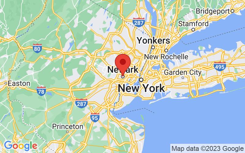Map of Newark, NJ US