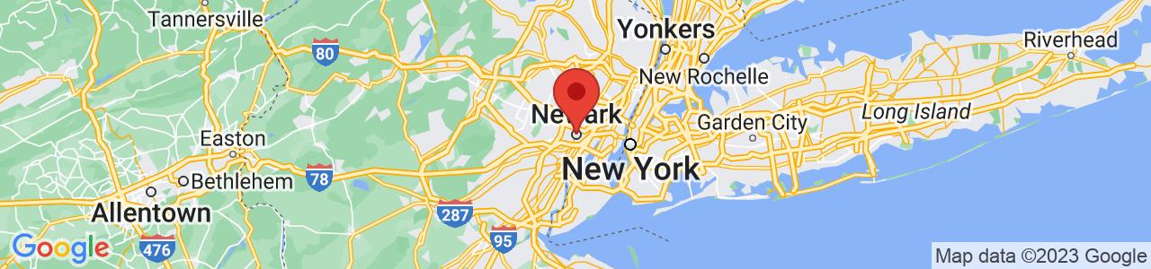 Map of Newark, NJ