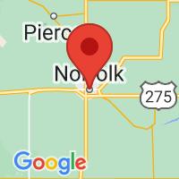 Map of Norfolk NE US