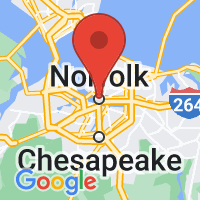 Map of Norfolk, VA US