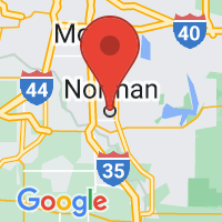 Map of Norman, OK US
