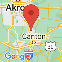 Map of North Canton, OH US