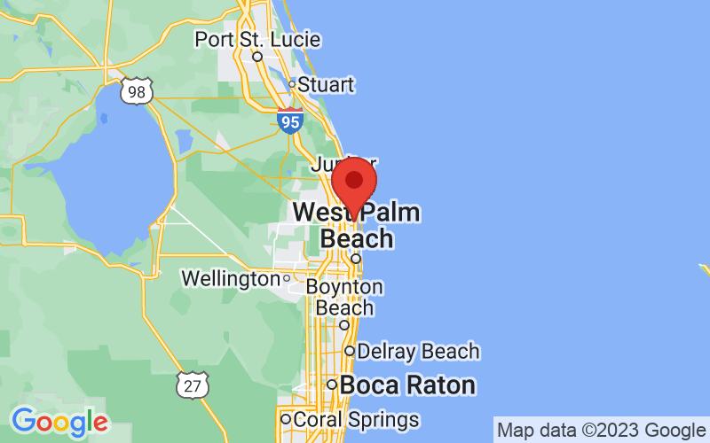 Map of North Palm Beach, FL
