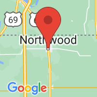Map of Northwood, IA US