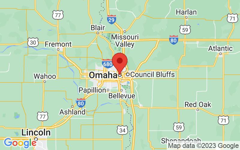 Map of Omaha, NE US