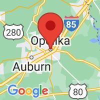 Map of Opelika AL US