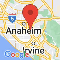 Map of Orange, CA US