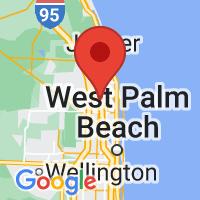 Map of Palm Beach gardens FL US