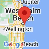 Map of Palm Beach, FL US