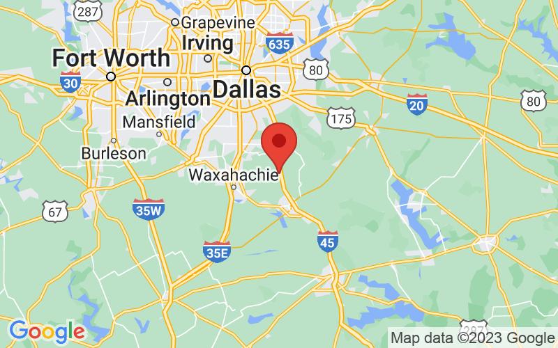 Map of Palmer, TX