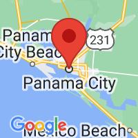 Map of Panama City FL US