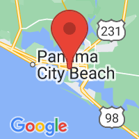Map of Panama City, FL US