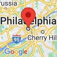 Map of Philadelphia Zone 1, PA US