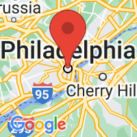 Map of Philadelphia, PA US