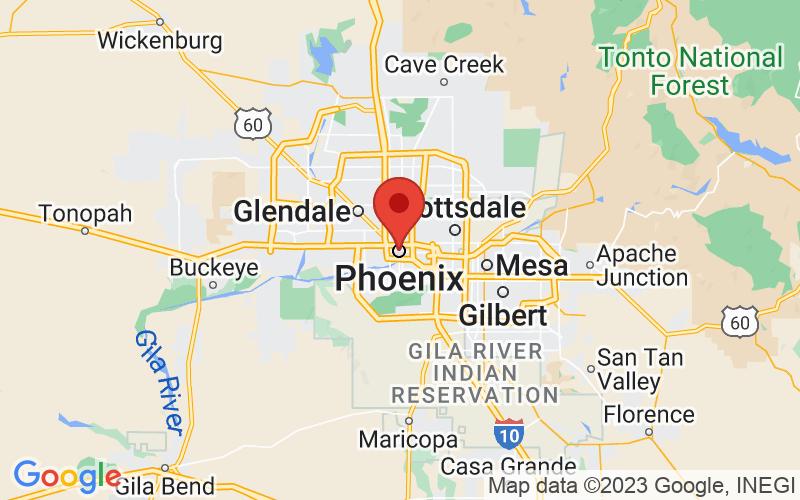 Map of Phoenix, AZ US