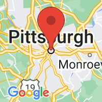 Map of Pittsburgh, PA US