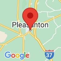 Map of Pleasanton, TX