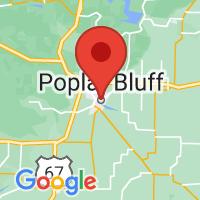 Map of Poplar Bluff, MO US