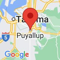 Map of Puyallup, WA US