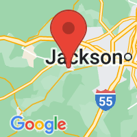 Map of Raymond, MS US
