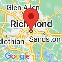 Map of Richmond, VA US