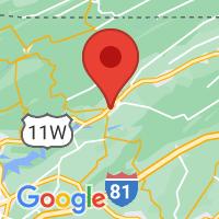 Map of Rogersville, TN